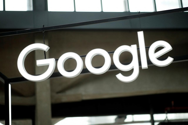 the google logo is seen at the quot station f quot start up campus in paris france february 15 2018 photo reuters