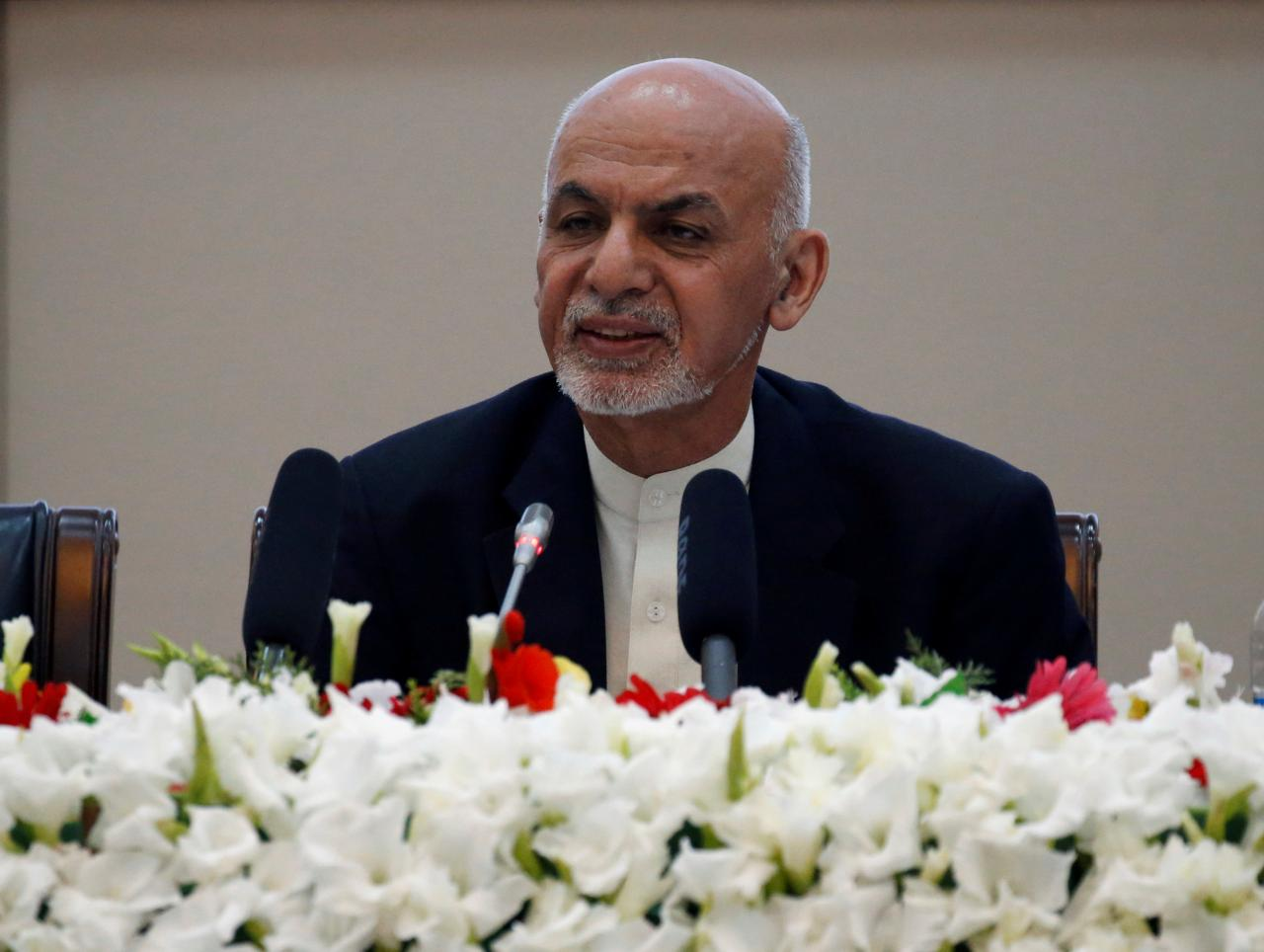Afghan President Ashraf Ghani speaks during during a peace and security cooperation conference in Kabul, Afghanistan. PHOTO: REUTERS