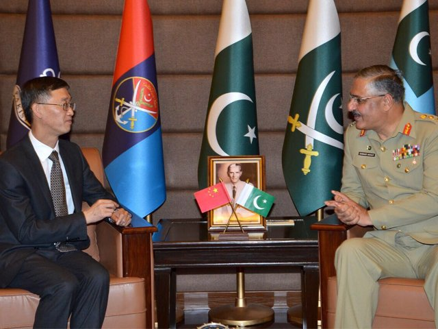 chinese ambassador meets cjcsc in rawalpindi on thursday photo ispr