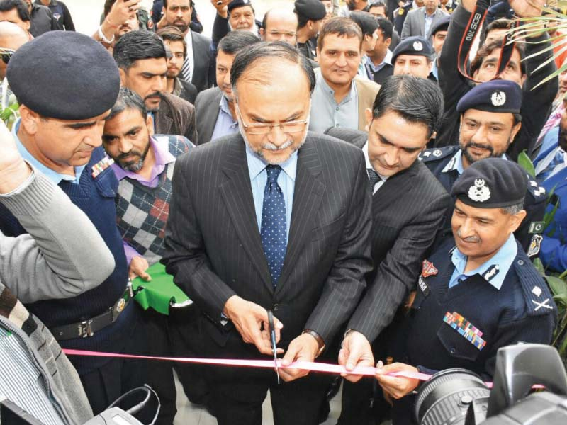 interior minister ahsan iqbal inaugurates a model police station photo express