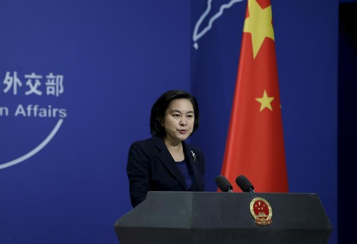 Hua Chunying, spokesperson of China's Foreign Ministry. PHOTO: REUTERS