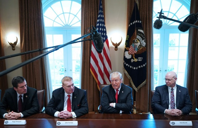 us president donald trump announces tariffs on steel and aluminum imports at a white house meeting with us industry leaders photo afp