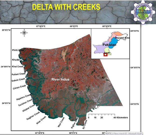 a map of the delta of the indus river photo courtesy prof altaf ali siyal