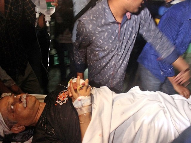 zafar iqbal activist and bestselling science fiction writer lies on a stretcher at sylhet on march 3 2018 photo afp photo afp