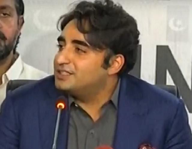 ppp chairman bilawal bhutto zardari addressing a press conference in karachi on sunday screengrab