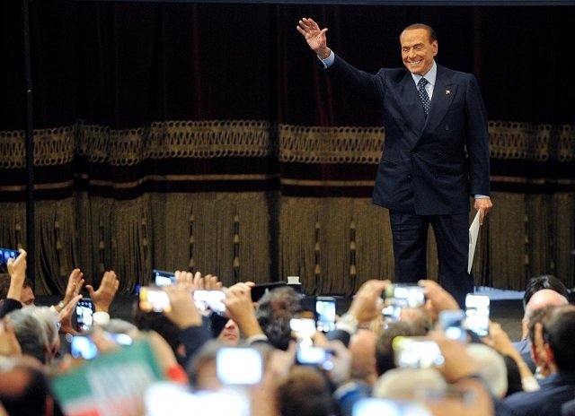 file photo forza italia party leader silvio berlusconi waves to his supporters during a rally for the regional election in palermo italy november 1 2017 photo reuters