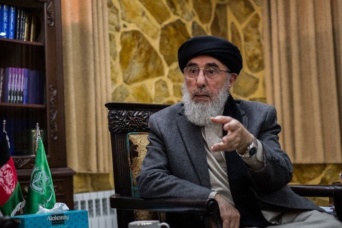 gulbuddin hekmatyar at his government provided residence in kabul last month photo courtesy the new york times