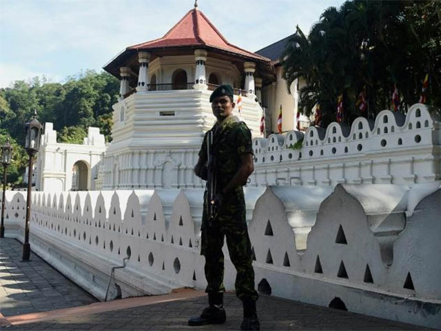 police said there had been riots and arson attacks since the weekend in kandy photo afp