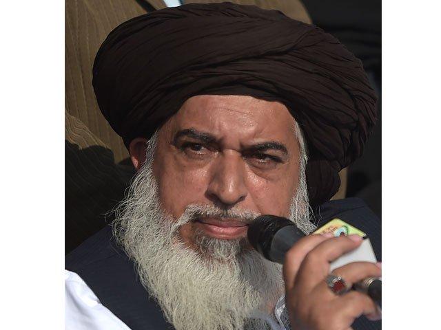 head of the tehreek e labaik pakistan khadim hussain rizvi photo afp