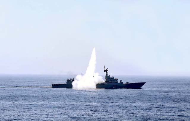 navy paf successfully test fire long range anti ship cruise missile
