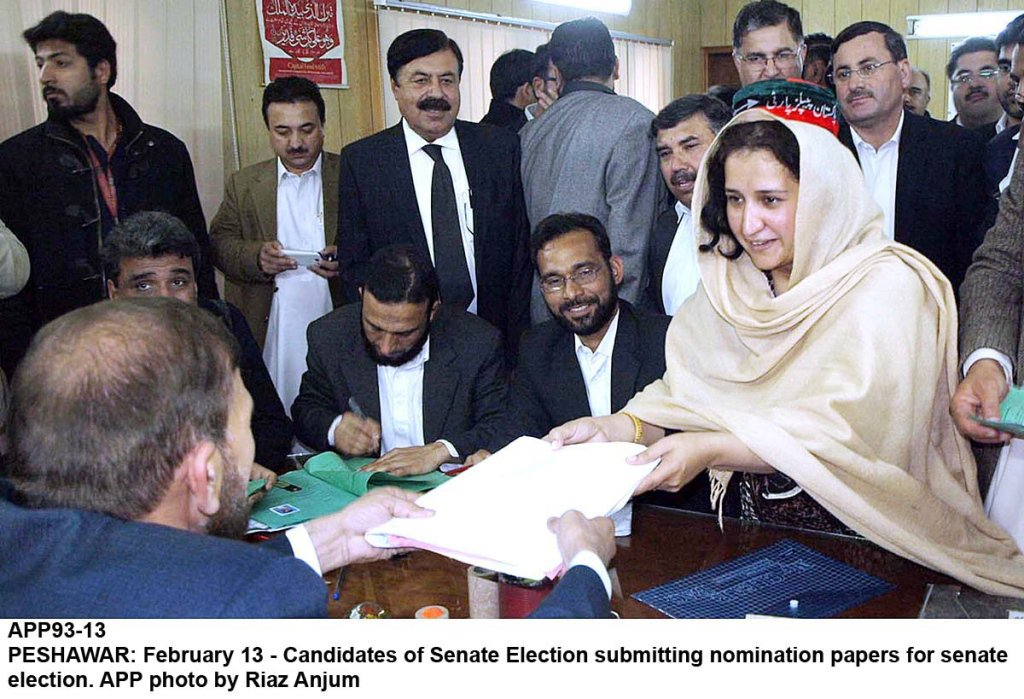 candidates of senate election submitting nomination papers for election photo app
