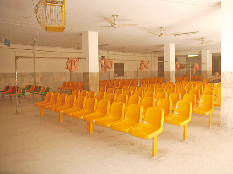 opd in lrh lies empty as government hospitals and private clinics in the city remain shut due to strike photo express