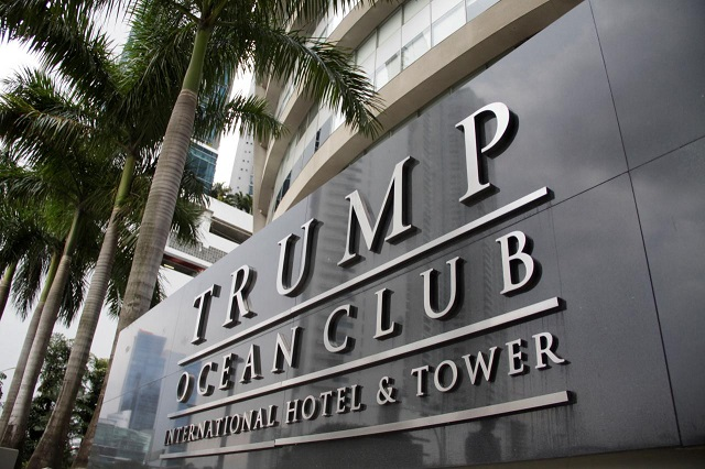 workers removed the trump logo from the entrance to the luxury complex photo reuters