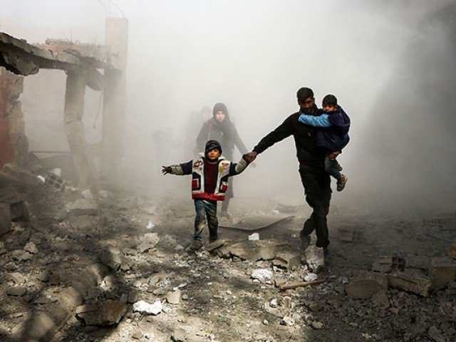 rebels allowed to leave syria 039 s eastern ghouta enclave via a humanitarian corridor photo afp