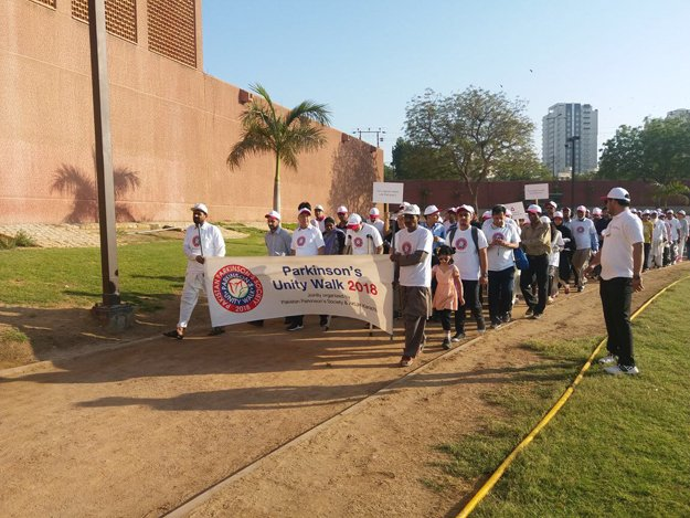 A large number of people participated in the walk to create awareness about Parkinson's disease. PHOTO: COURTESY AKUH