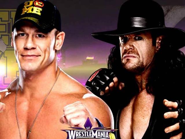 john cena challenges the undertaker at wrestlemania