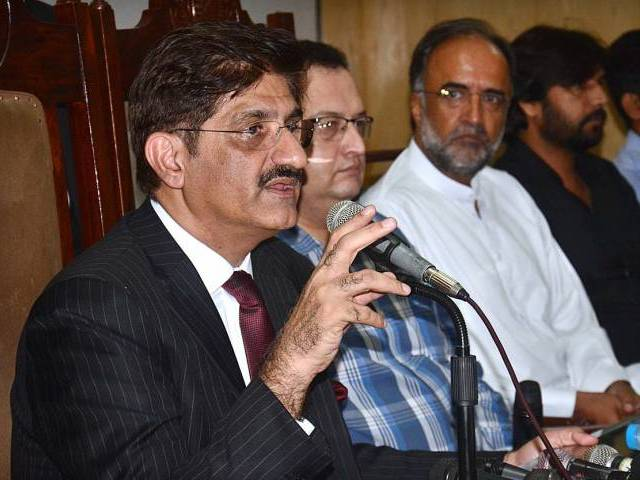 sindh cheif minister syed murad ali shah speaks during meet the press at press club photo app