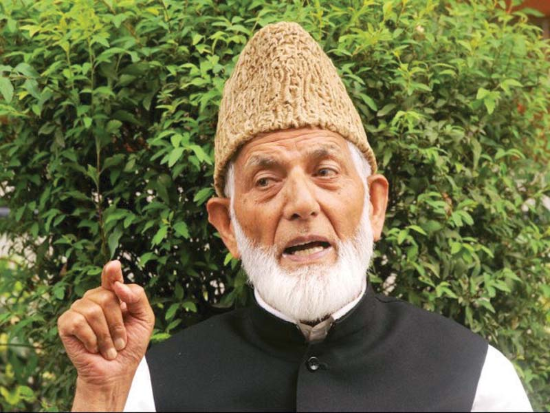 syed geelani slams indian security agencies for harassing kashmiri resistance leaders