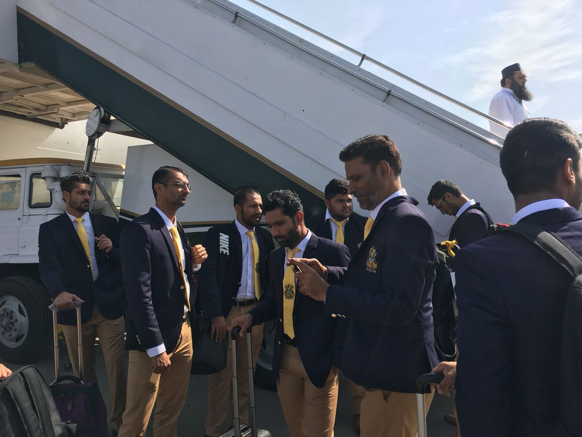 CRICKET COMES TO LAHORE: Gladiators' team players partially arrived in Lahore that included all the local players, while the international players will land in Pakistan on March 19. PHOTO COURTESY: PSL