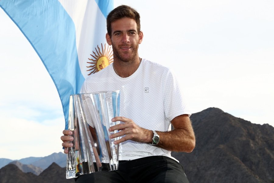 DIFFERENT GOALS: Argentine Juan Martin del Potro says he is not thinking about his ranking and just wants to keep up the pace and win as many titles as possible. PHOTO: AFP