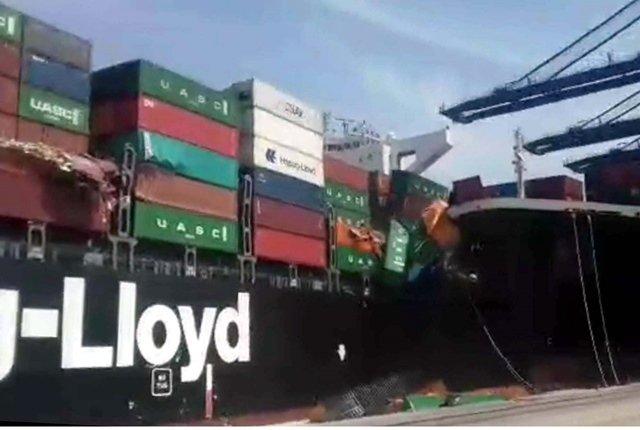cargo ships collide while entering karachi port