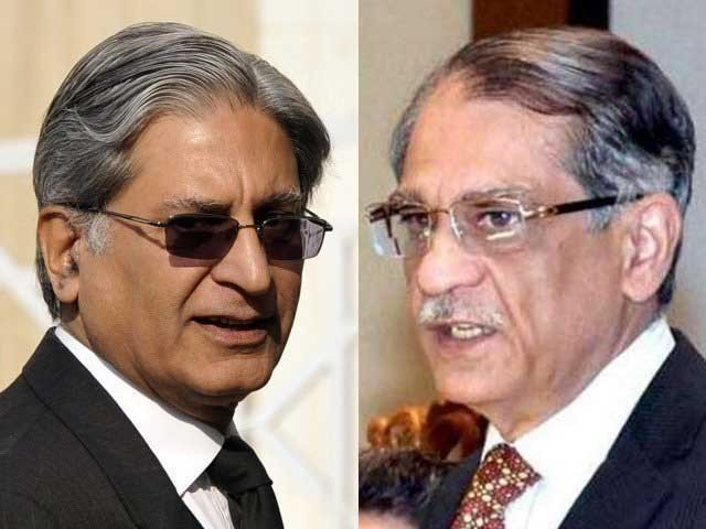 sc imposed fine on aitzaz ahsan paid by cjp s son as sadqah