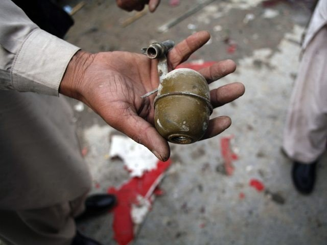 The incident took place in the Sikandar village where eyewitnesses confirmed that the hand grenade was thrown from behind the stage. PHOTO: EXPRESS/FILE
