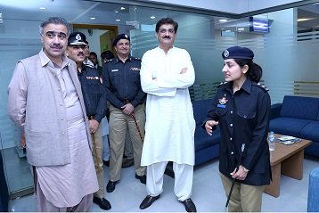 cm inaugurates sindh s first police facilitation centre in hyderabad