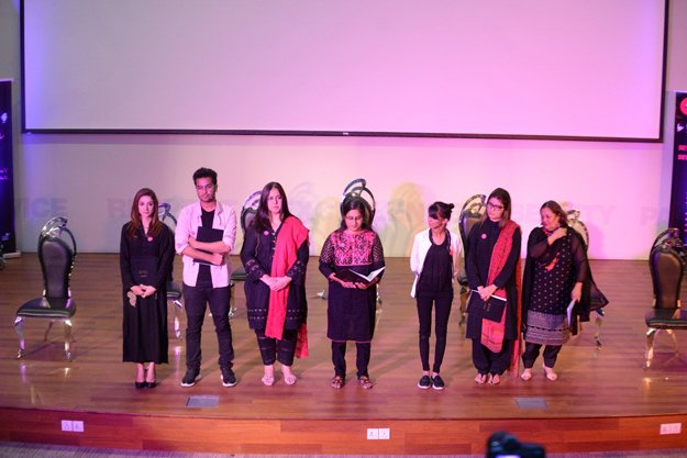 stories of seven courageous women recited at habib university