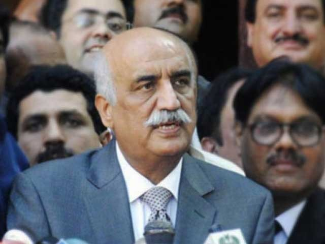PPP leader Khursheed Shah. PHOTO: FILE PHOTO