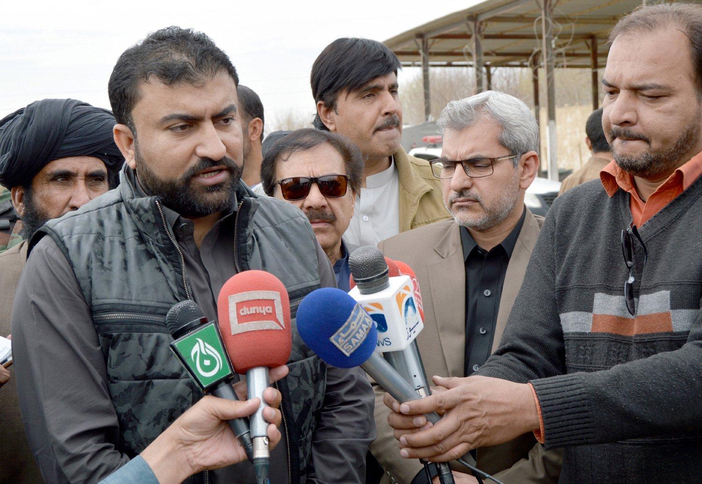 Balochistan Home Minister Sarfraz Bugti. PHOTO: EXPRESS