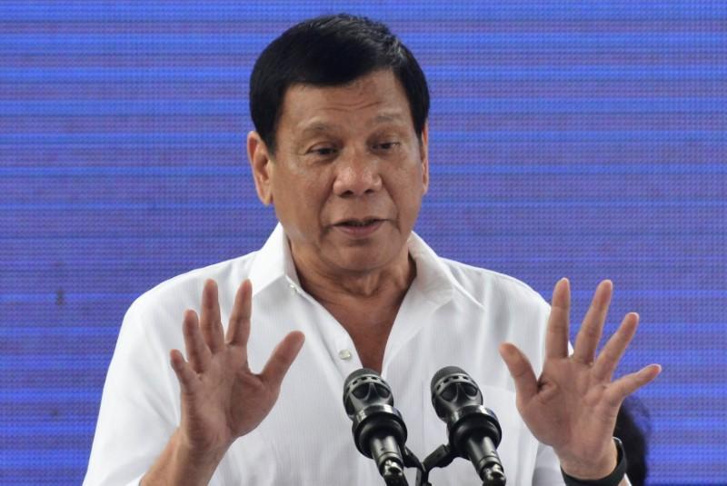 Philippines' President Rodrigo Duterte PHOTO:REUTERS