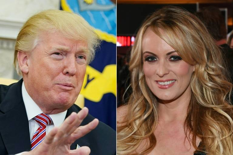 trump breaks silence claims no knowledge of porn star payment