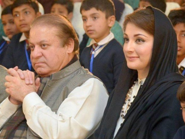 Former PM Nawaz Sharif and daughter Maryam Nawaz PHOTO: FILE