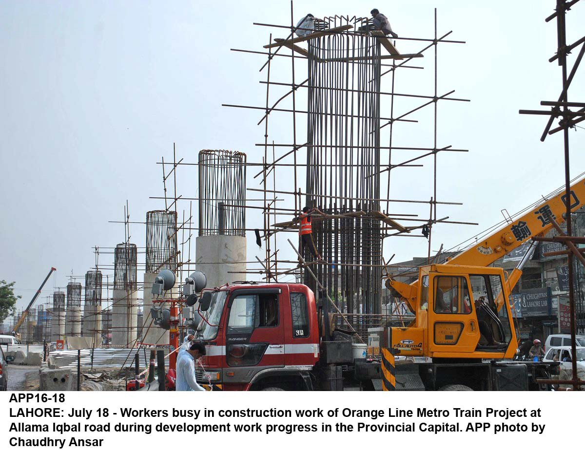 Contractors have employed additional workforce for early completion and partial trial run. PHOTO: APP