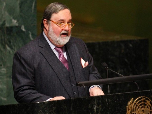 Pakistan's former ambassador to the UN Abdullah Hussain Haroon. PHOTO: NNI