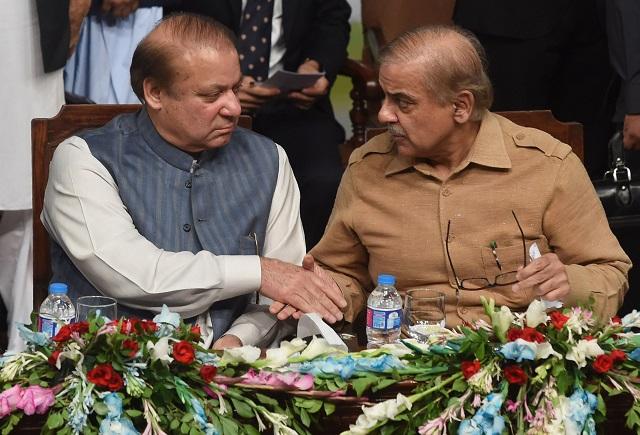 Sharif brothers. PHOTO: AFP