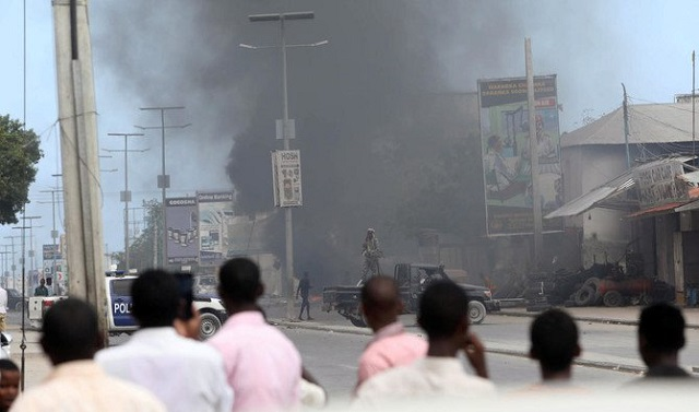 bomb kills up to five during football match in somalia