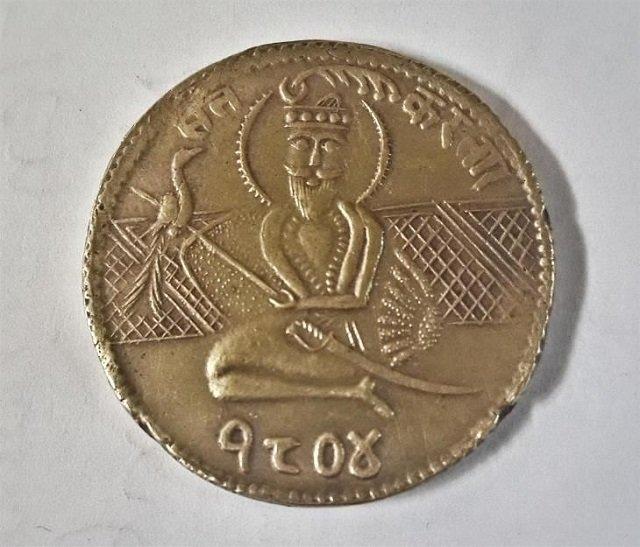 antique sikh coin 1804 ad with guru nanak sahib photo courtesy pinterest