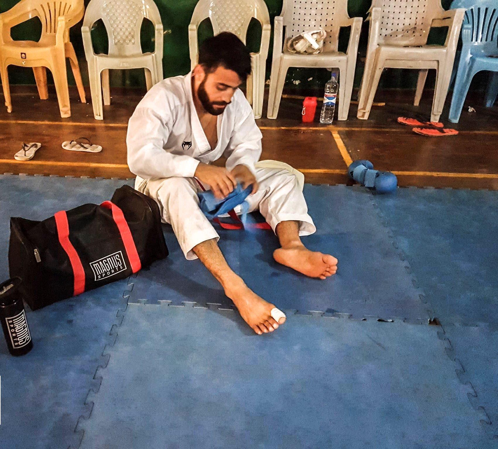pakistan s saadi abbas breaks into top 10 in karate1 premier league