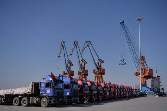 CPEC Secretariat says Gwadar city being built as per standard of Hong Kong, Singapore. PHOTO: AFP
