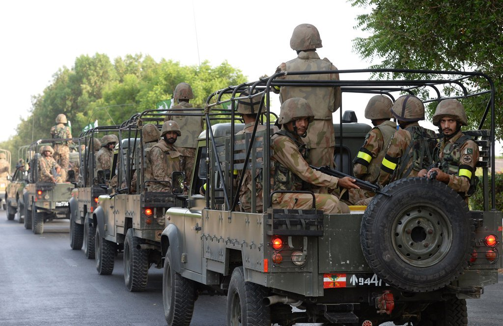 Pakistan Army soldiers. PHOTO: AFP