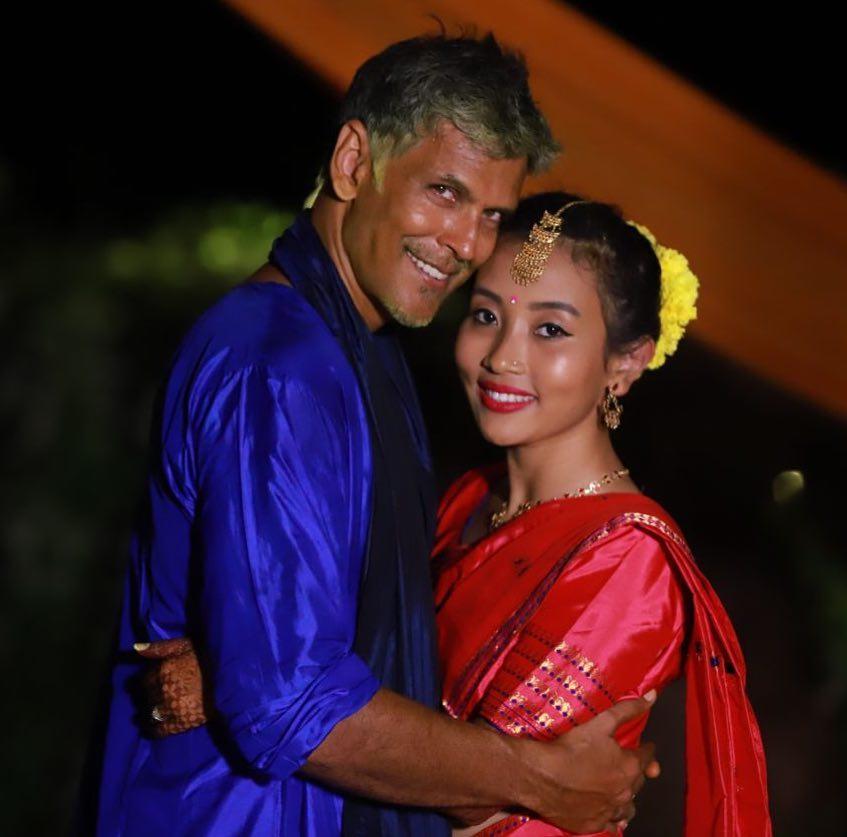 bajirao mastani actor milind soman and ankita konwar tie the knot despite 25 year age gap