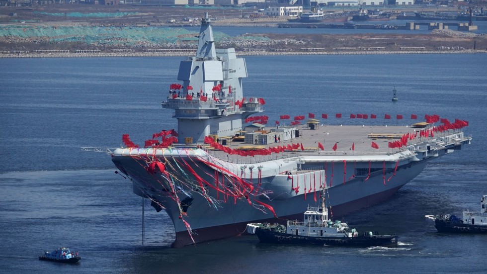 china s first home built aircraft carrier looks set to start sea trials