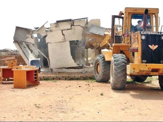 on court orders anti encroachment operation conducted at kmc s sports complex surroundings