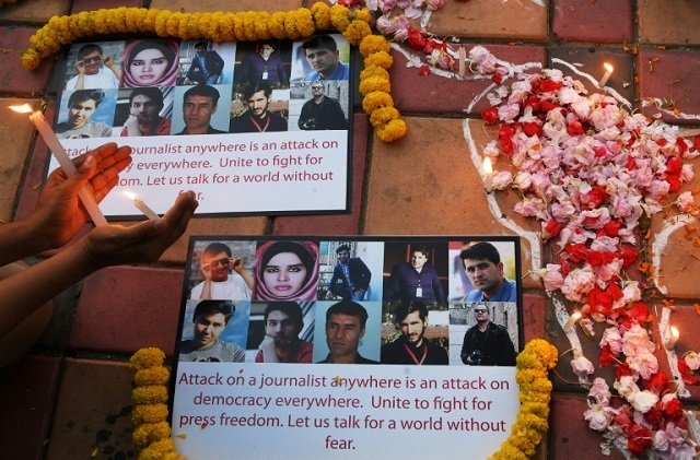 slain afghan journalists remembered on world press freedom day