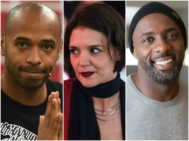 katie holmes idris elba and theirry henry attend cultural event in riyadh