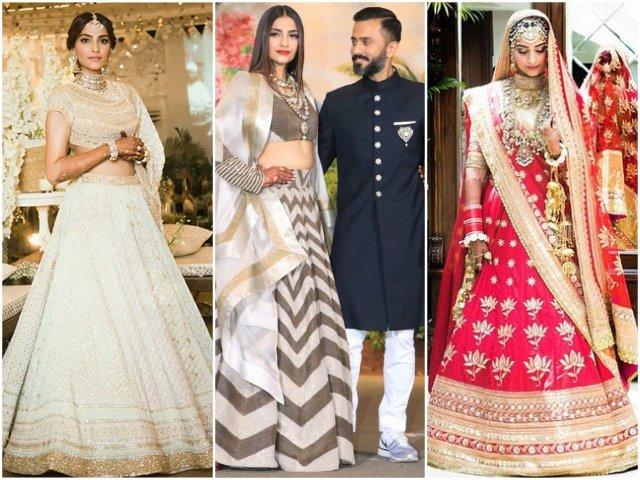 all the glittery details of sonam kapoor s wedding wardrobe