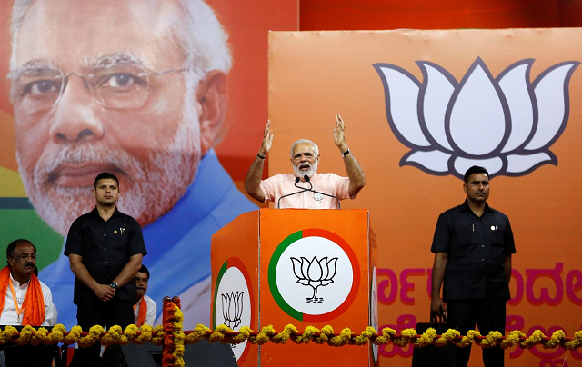modi fights to capture southern indian state