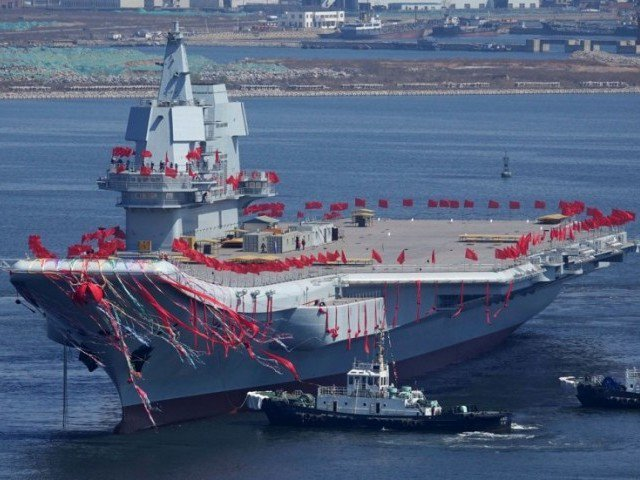 china s first home built carrier sets out for sea trials